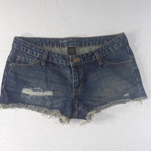 Mossimo distressed low rise shorts